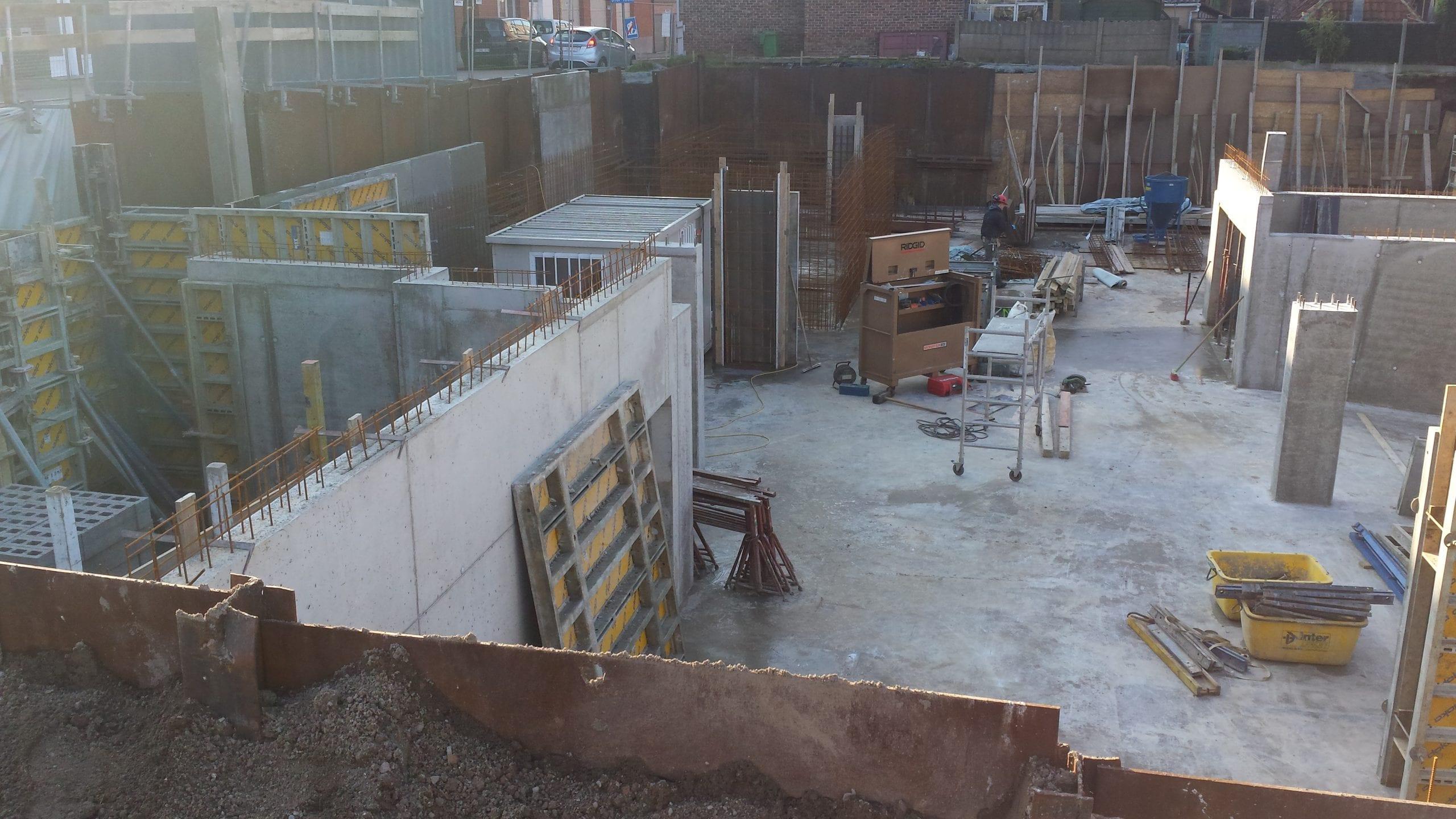 Betonwerken kelder beton van empel