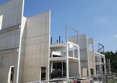 Betonwand van empel betonwerken