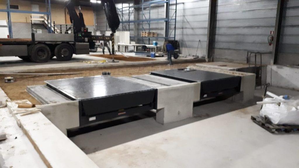 Loadingdock beton van empel betonwerken